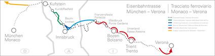 BBT Zulaufstrecke zwischen München und Verona