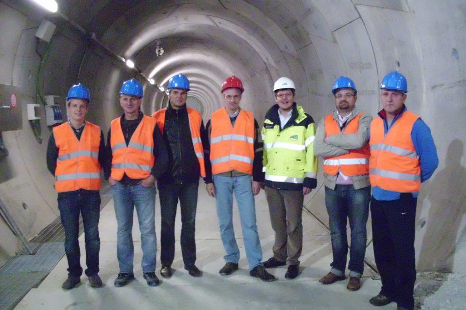 Südtiroler Schützen besichtigen Brenner Basistunnel