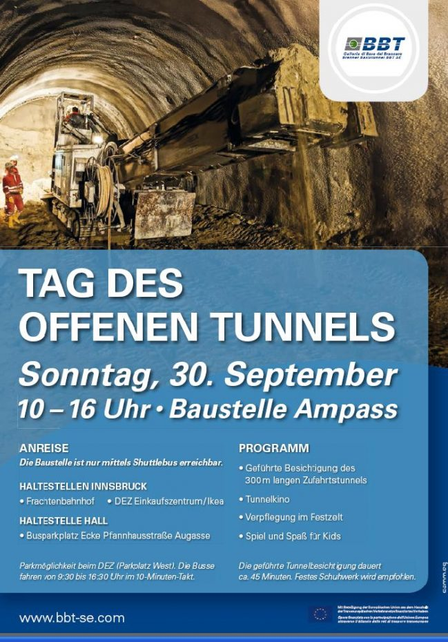 Tag des offenen Tunnels in Ampass