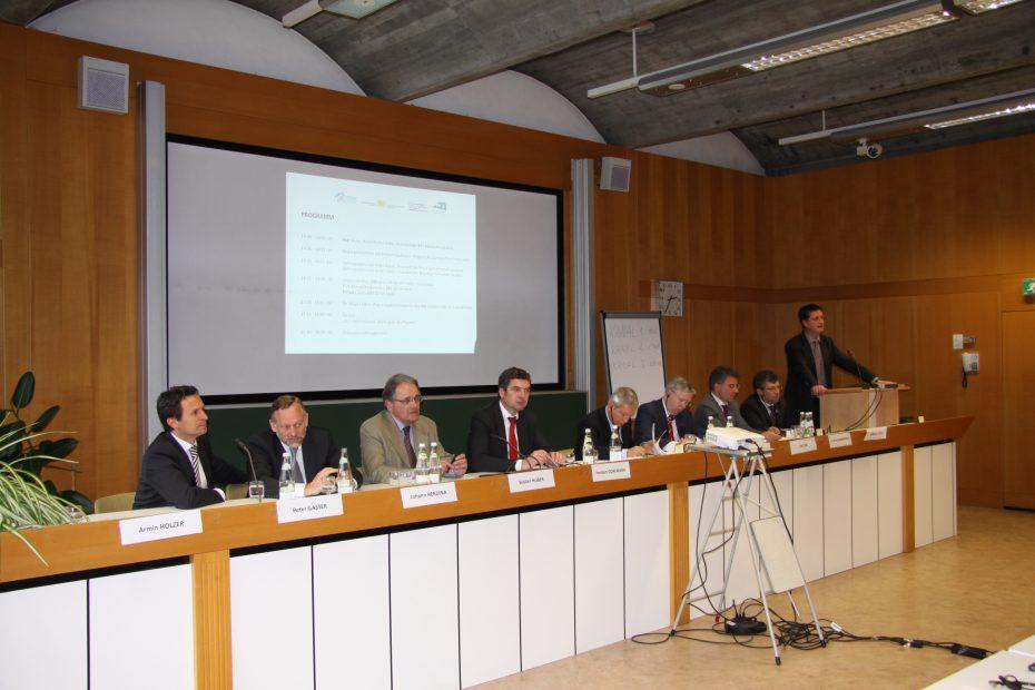 EU – Ten Koordinator Pat Cox trifft Entscheidungsträger des Brennerkorridors.