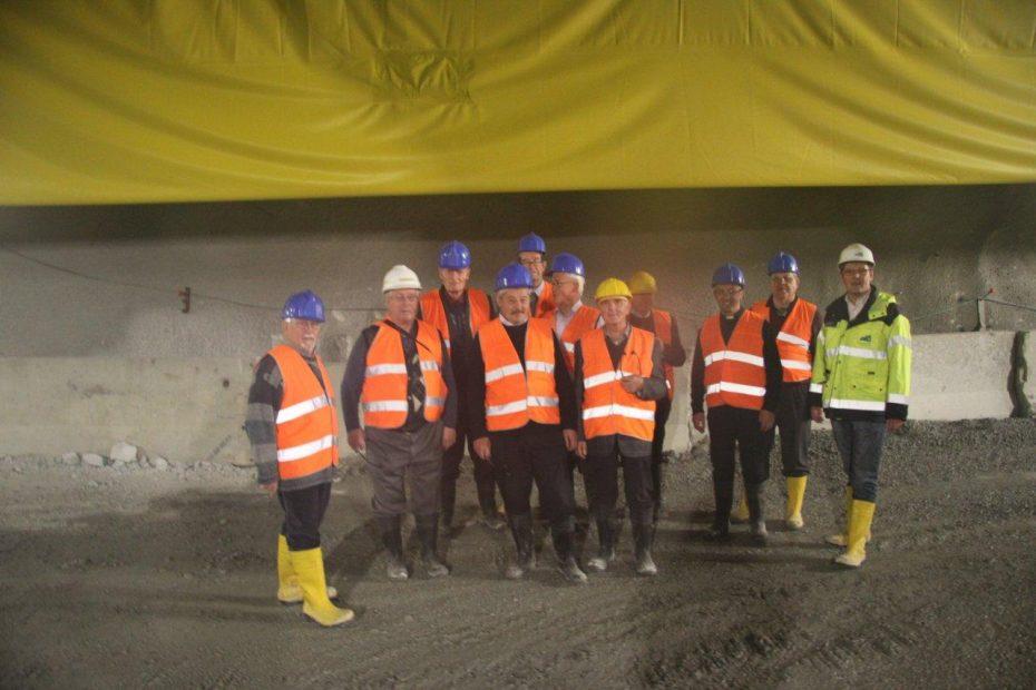 """""""Moderne Pfarrer"""": Pfarrer des Eisacktales besichtigen den Brenner Basistunnel"""