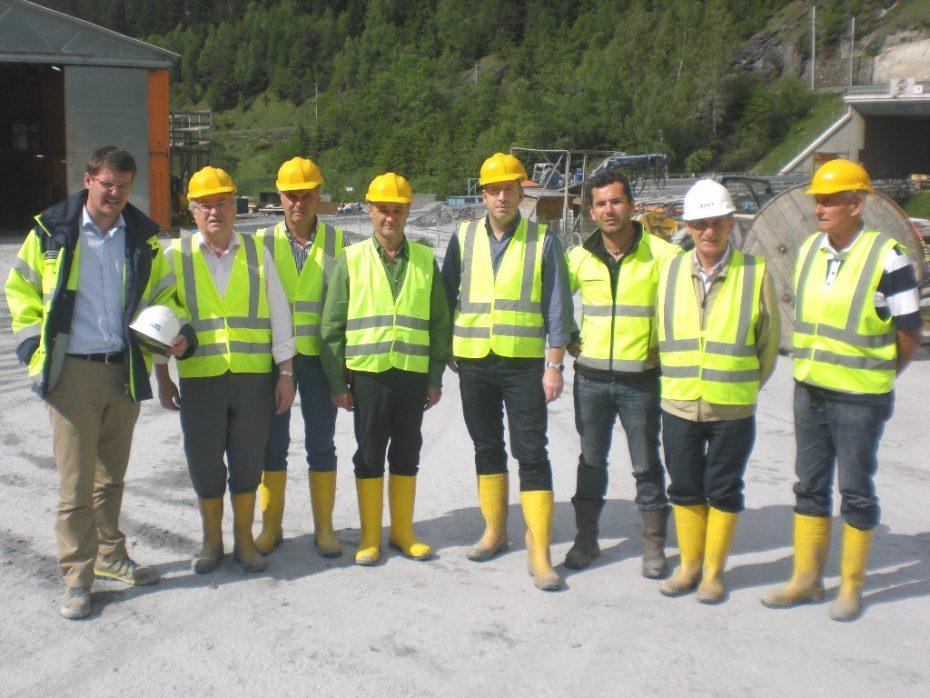 Altbürgermeister aus dem Eisacktal besichtigen BBT-Baustelle in Nordtirol