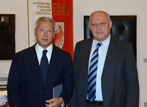 BBT-Kommissar Fabris bei LH Durnwalder