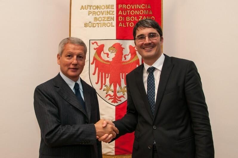 Treffen zwischen LH Kompatscher und Mauro Fabris