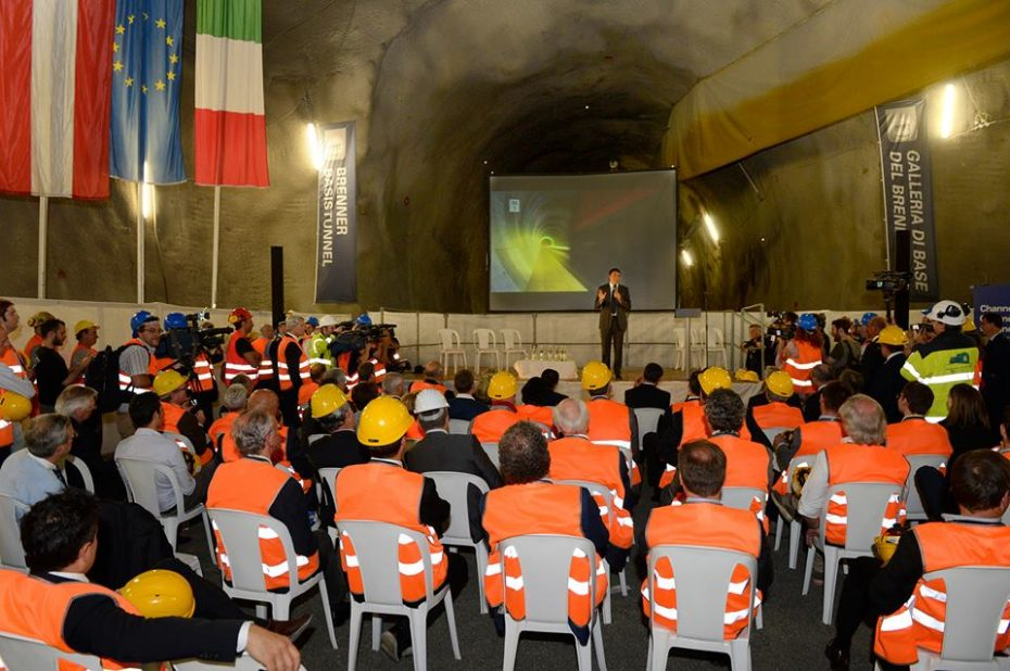 Premier Renzi besucht BBT-Baustelle: Länder wachsen zusammen