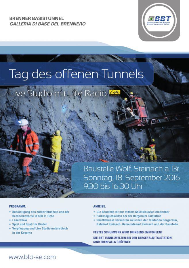 Tag des offenen Tunnels in Wolf am Sonntag, den 18. September