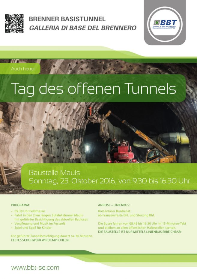 Tag des offenen Tunnels in Mauls, 23.10.2016