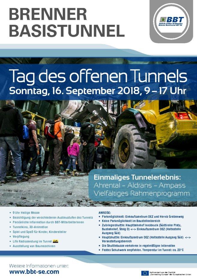 Tag des offenen Tunnels: Ahrental – Aldrans – Ampass, 16.09.2018