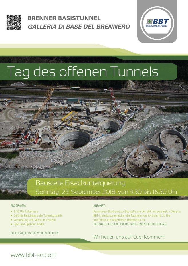 Tag des offenen Tunnels Eisackunterquerung, 23.09.2018